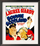 Bonnie Scotland  Oliver Hardy  June Lang  Stan Laurel on Window Card  1935