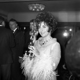 Elizabeth Taylor with Her Oscar  April 1967