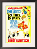 So This Is Paris  Poster Art  1926