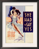 She Had to Say Yes  Lyle Talbot  Loretta Young on Midget Window Card  1933