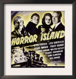 Horror Island  Leo Carrillo  Fuzzy Knight  Peggy Moran  Dick Foran on Window Card  1941