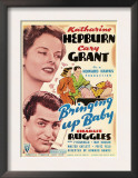 Bringing Up Baby  Katharine Hepburn  Cary Grant on Midget Window Card  1938