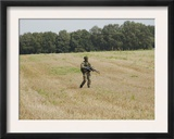 Belgian Paratroopers Proceeding in the Fields