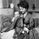 Elizabeth Taylor and Son Michael  September 1953