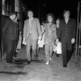 Elizabeth Taylor and Richard Burton Arriving at Brighon Station  October 1970