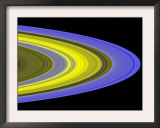 False-Color Image of Saturn's Main Rings Made Using Cassini's Ultraviolet Imaging Spectrograph