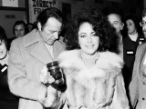 Richard Burton and Elizabeth Taylor at the Pedro Youth Club  November 1975