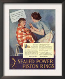 Taking Giving Medicine Sealed Piston Rings Medical  USA  1938