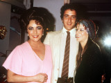Elizabeth Taylor with Son Christopher Wilding and Aileen Getty  June 1981