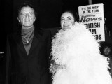 Elizabeth Taylor and Richard Burton at the Evening News Briitish Film Awards  November 1975