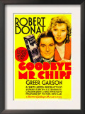 Goodbye  Mr Chips  Robert Donat  Greer Garson on Midget Window Card  1939