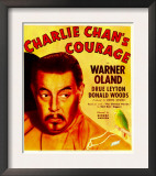 Charlie Chan's Courage  Warner Oland on Window Card  1934