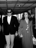 Elizabeth Taylor and Richard Burton at Heathrow Airport  September 1970