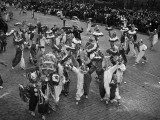Men Dressed in Clown Suits on Street in Mummers' Parade