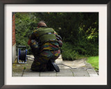 Soldier of the Belgian Army Investigating Suspect Building