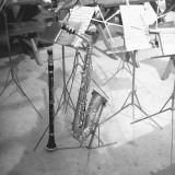 Oboe and Saxophone With Music Sheets