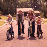 Family of Four Bicycle Portrait