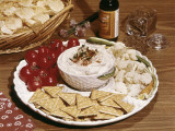 Cherry Tomatoes Cauliflower and Crackers With Dip