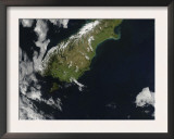 View of Most of the South Island of New Zealand