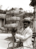 Havana Cuba Local Man Candyman Holding Three Tier