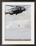 An Air Force Pararescueman Conducts a Combat Insertion and Extraction Exercise in Djibouti  Africa