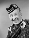Elderly Man Wearing Scottish Tartan