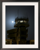Cob Speicher Control Tower under a Full Moon