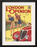 London Opinion  Hitchhiking Glamour Magazine  UK  1930