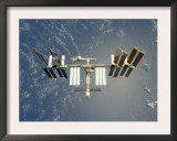 International Space Station Backdropped Against Earth