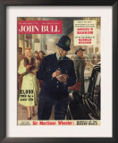John Bull  Police Giving Parking Tickets Magazine  UK  1956