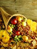Cornucopia Filled With Fruit