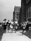 Children Running By School