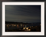 Star Trails over Okanagan Lake  Vernon  British Columbia  Canada