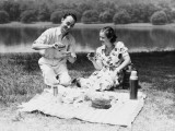 Couple Enjoying Summer Picnic