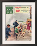 John Bull  Police Holiday Seaside Storms Disasters Bad Weather Magazine  UK  1956