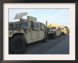 Humvees Sit on the Pier at Morehead City  North Carolina  Awaiting Deployment