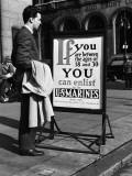 Man Reading Recruitment Poster