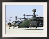 Oh-58D Kiowa Warrior Helicopters Parked at Camp Speicher  Iraq