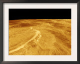 3D Perspective View of Latona Vorona and Dali Chasma on Venus