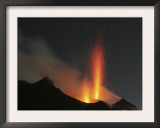 Stromboli Eruption  Aeolian Islands  North of Sicily  Italy