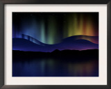 Abstract Illustration of the Northern Lights
