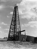 Oil Well With Wooden Derrick  Near Houston  Texas