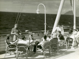People Having Drinks on Deck of Cruise Ship
