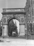 Triumphal Arch on Washington Square Park  New York