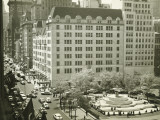 Busy Street at Plaza Hotel  New York City  (Elevated View)