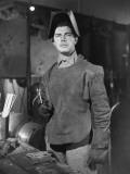 Man in Welding Gear in WWII Defense Plant