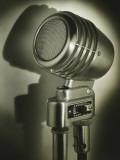 Vintage Amplifier in Spotlight  Close-Up