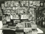 Sidewalk Newspaper and Magazine Stand
