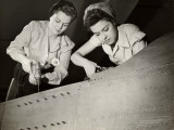 Women Working on WWII Aircraft Assembly