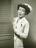 Nurse Peeping Trough Opened Doors